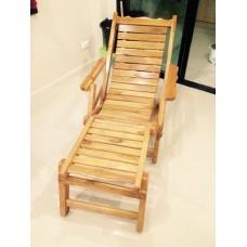 เก้าอี้นอนไม้สัก